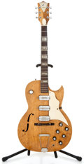 Musical Instruments:Electric Guitars, 1960's Kay Speed Demon Refinished Semi-Hollow Body Electric Guitar...