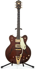 Musical Instruments:Electric Guitars, 1960's Gretsch Country Gentleman Walnut Semi-Hollow Body ElectricGuitar #74395...