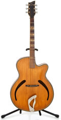 Musical Instruments:Acoustic Guitars, 1950's Hopf Project German Natural Archtop Acoustic Guitar ...
