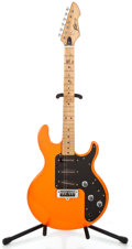 Musical Instruments:Electric Guitars, 1980's Peavy T-26 Project Refinished Orange Solid Body ElectricGuitar #01276129...