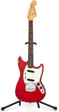 Musical Instruments:Electric Guitars, 1965 Fender Mustang Dakota Red Solid Body Electric Guitar#L94822...