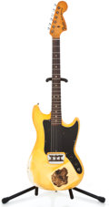 Musical Instruments:Electric Guitars, 1977 Fender Musicmaster Olympic White Solid Body Electric Guitar#S704832...