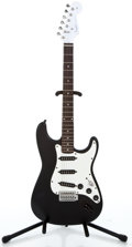Musical Instruments:Electric Guitars, Recent Fender Parts-Caster Black Solid Body Electric Guitar #V100433...