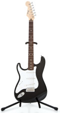 Musical Instruments:Electric Guitars, Recent Fender Lefty Stratocaster MIJ Black Solid Body Electric Guitar #Q036146...