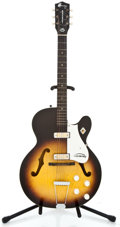Musical Instruments:Electric Guitars, 1960's Harmony Rocket Sunburst Semi-Hollow Body Electric Guitar#2887H54...
