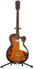 Musical Instruments:Electric Guitars, 1960's Kay Singlecut Project Sunburst Archtop Electric Guitar...