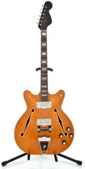 Musical Instruments:Drums & Percussion, 1974 Fender Coronado II Refinished Semi-Hollow Body Electric Guitar#501239...