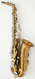 Musical Instruments:Horns & Wind Instruments, 1930's Frank Holton Revelation Brass Alto Saxophone #119409...