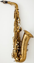 Musical Instruments:Horns & Wind Instruments, 1940's Conn Naked Lady Brass Alto Saxophone #297659...