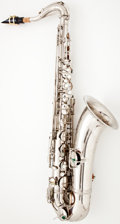 Musical Instruments:Horns & Wind Instruments, 1920's Conn Silver Tenor Saxophone #55829...