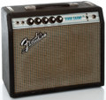 Musical Instruments:Amplifiers, PA, & Effects, 1970's Fender Vibro Champ Black Guitar Amplifier #A31048...