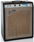 Musical Instruments:Amplifiers, PA, & Effects, Early 1980's Fender Musicmaster Bass Black Bass Guitar Amplifier #A08569...