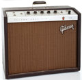 Musical Instruments:Amplifiers, PA, & Effects, 1960's Gibson GA19 Falcon Brown Guitar Amplifier #485964...