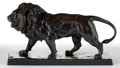 Sculpture, A PATINATED BRONZE FIGURE AFTER ANTOINE-LOUIS BARYE (FRENCH, 1796-1875): LION QUI MARCHE . Late 19th century. M...