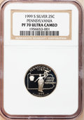 Proof Statehood Quarters, 1999-S 25C Pennsylvania Silver PR70 Ultra Cameo NGC. NGC Census:(773). PCGS Population (90). Numismedia Wsl. Price for pr...