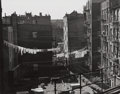 Photographs:20th Century, TODD WEBB (American, 1905-2000). View from Chatham, El Station, 1946. Early gelatin silver. 10-1/2 x 13-1/2 inches (26.7...