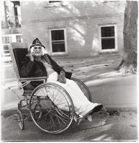 DIANE ARBUS (American, 1923-1971) Masked Woman in a Wheelchair, PA, 1970 Gelatin silver, 1972 by Nei