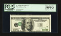 Error Notes:Inverted Third Printings, Fr. 2175-B $100 1996 Federal Reserve Note. PCGS Choice About New58PPQ.. ...
