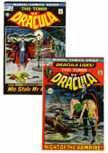 Bronze Age (1970-1979):Horror, Tomb of Dracula #1 and 2 Group (Marvel, 1972) Condition: AverageVF/NM.... (Total: 2 Comic Books)