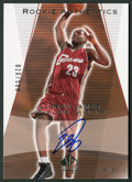 "Autographs:Sports Cards, 2004 Upper Deck ""Rookie Authentics"" LeBron James Signed LimitedEdition Card #20/500. ..."