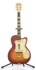 Musical Instruments:Electric Guitars, 1960's Silvertone Jimmy Reed Cherry Burst Semi-Hollow Body ElectricGuitar ...
