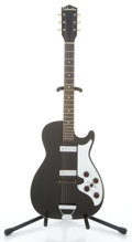 Musical Instruments:Electric Guitars, 1960's Silvertone Two Pickup Black Solid Body Electric Guitar ...