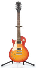 Musical Instruments:Electric Guitars, Recent Epiphone Lefty Les Paul Sunburst Solid Body Electric Guitar#099040173...