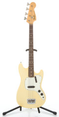 Musical Instruments:Bass Guitars, 1972 Fender Musicmaster Bass Olympic White Electric Bass Guitar#331056...
