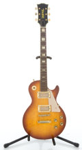 Musical Instruments:Electric Guitars, 1970's Univox LP Sunburst Solid Body Electric Guitar #100893...