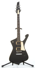 Musical Instruments:Electric Guitars, 1990 Ibanez Iceman IC 300 Black Solid Body Electric Guitar#C429312...