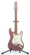 Musical Instruments:Electric Guitars, Recent Fender Stratocaster XII Burgundy Mist Solid Body ElectricGuitar #R 019848...