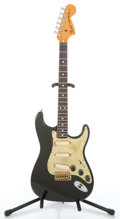 Musical Instruments:Electric Guitars, 1972 Fender Stratocaster Black Solid Body Electric Guitar#337299...