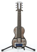 Musical Instruments:Lap Steel Guitars, 1930's Rickenbacher Electro Black Lap Steel Guitar #1940's...