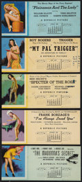"""Movie Posters:Sexploitation, Pin-Up & Other Lot (1930s-1960s). Ink Blotters (10) (4"""" X 9"""")and Lobby Card 11"""" X 14""""). Sexploitation.. ... (Total: 11 Items)"""