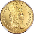 Early Half Eagles, 1795 $5 Small Eagle MS63 Prooflike NGC. Breen-6416, BD-8, HighR.5....