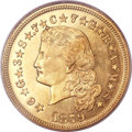 Proof Four Dollar Gold Pieces, 1879 $4 Flowing Hair, Judd-1635, Pollock-1833, R.3, PR65+ CameoPCGS. CAC....