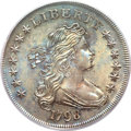 Early Dollars, 1798 $1 Large Eagle, Pointed 9 MS62 PCGS. B-27, BB-113, R.2....
