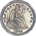 Patterns, 1849 P3CS Three Cent Silver, Judd-111 Original, Pollock-125, R.6,PR63 NGC....