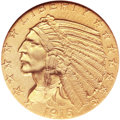 Proof Indian Half Eagles, 1915 $5 PR66 NGC. CAC....