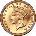 Proof Gold Dollars, 1881 G$1 PR65+ Ultra Cameo NGC....