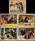 "Movie Posters:Adventure, They Met in Bombay and Others Lot (MGM, 1941). Lobby Cards (5) (11""X 14""). Adventure.. ... (Total: 5 Items)"