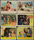 "Movie Posters:Horror, Pharaoh's Curse and Others Lot (United Artists, 1956). Lobby Cards (6) (11"" X 14""). Horror.. ... (Total: 6 Item)"