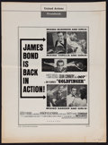 "Movie Posters:James Bond, Goldfinger (United Artists, 1964). Uncut Pressbook (12 Pages,13.25"" X 18"")). James Bond.. ..."