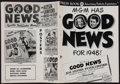 """Movie Posters:Musical, Good News (MGM, 1947). Uncut Pressbook (Multiple Pages, 11"""" X 15""""). Musical.. ..."""