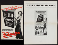 """It All Came True (Warner Brothers, 1940). Pressbook with Advertising Section(Multiple Pages) (11"""" X 17"""" and 17..."""