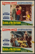 """Movie Posters:Adventure, River of No Return (20th Century Fox, 1954). Lobby Cards (2) (11"""" X14""""). Adventure.. ... (Total: 2 Items)"""