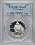 Modern Issues: , 1982-S S50C Washington Silver Half Dollar PR70 Deep Cameo PCGS.PCGS Population (131). NGC Cen...