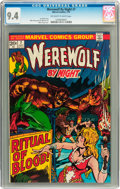 Bronze Age (1970-1979):Horror, Werewolf by Night #7 (Marvel, 1973) CGC NM 9.4 Off-white to whitepages....