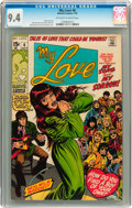 Bronze Age (1970-1979):Romance, My Love #6 (Marvel, 1970) CGC NM 9.4 Off-white to white pages....