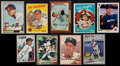 Baseball Cards:Autographs, Baseball Stars and Hall of Famers Signed Cards Lot of 9. ...